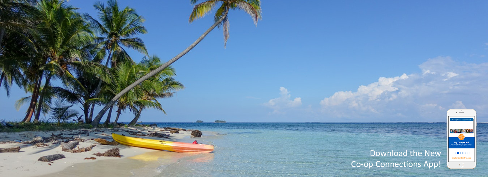 Kayak on a tropical beach