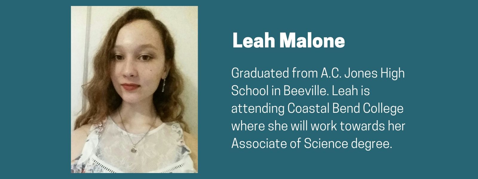 Leah Malone Scholarship Recipient